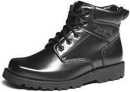 Treasu Men's Warm Wool Leather Outdoor Military ... - Amazon.com