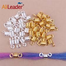 <b>Alileader</b> Dreadlocks Beads Mixed <b>Golden Silver Aluminum</b> Dread ...