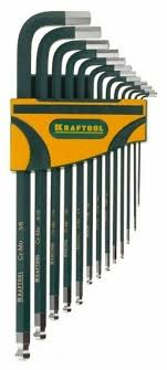 <b>Набор имбусовых ключей</b> Kraftool 27444-H13 (13 предм.)