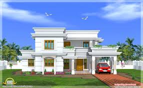 2666 square feet two story modern house elevation may 2012 beautiful interior office kerala home design