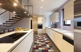 kitchen runners kitchen runner rugottohome collection multicolor checkered design mode