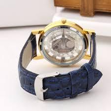 New Rushed Fashion <b>Business Skeleton Watch</b> Men Engraving ...