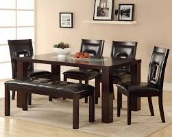 dining table sets bench simple interior