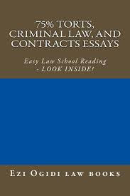 cheap school contracts school contracts deals on line at get quotations · 75% torts criminal law and contracts essays e book