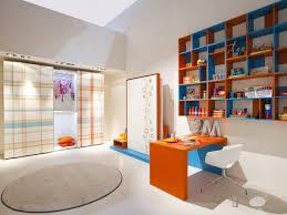 interior cheerful living room design blue office room design