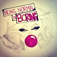 "Marilyn Monroe Sketch & Quote ""Being Normal is Boring"" #art ..."