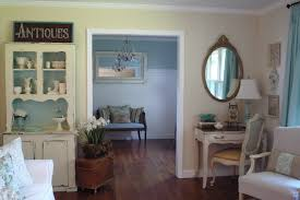 cool corner desk with hutch in living room shabby chic with cottage furniture next to dresser desk alongside yellow and turquoise and buffets and hutches chic yellow living room