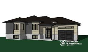 House plan W  BIG detail from DrummondHousePlans comfront   BASE MODEL One story split entry affordable house plan   attached garage