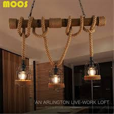 loft vintage rural pendant lights hemp rope bamboo iron cage pendant lamps hand knitted lighting fixtures bamboo lighting fixtures