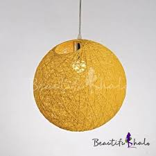 Hand Made <b>Ball Pendant</b> Lamp Colorful <b>Contemporary LED</b> ...