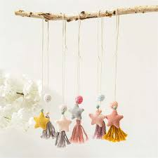 Online Shop <b>Korea Handmade Cute</b> Fabric Star Tassel Necklace ...