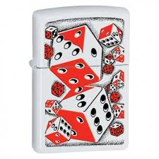 Žiebtuvėliai - <b>Зажигалка</b> ZIPPO 28031 <b>Vintage Red</b> and Black Dice ...
