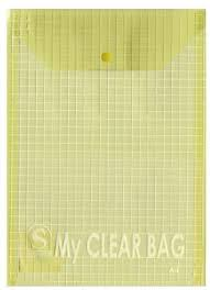 <b>Папка</b>-<b>конверт с кнопкой MY</b> CLEAR BAG, ф. А4, вертикальная ...