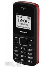 <b>Сотовый телефон Maxvi C23</b> Black-Red