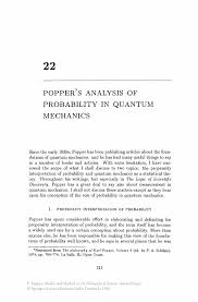 popper s analysis of probability in quantum mechanics springer inside