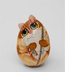 Шкатулка-<b>яйцо</b> «Кот» в ассортименте | Тыква искусство ...