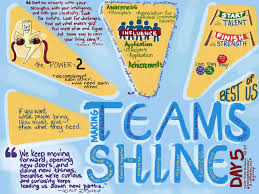custom illustrations from carol anne making teams shine