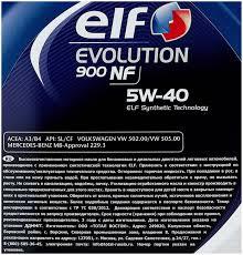 <b>Синтетическое моторное масло</b> ELF Evolution 900 NF 5W-40 <b>4 л</b> ...