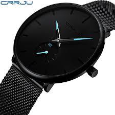 Crrju <b>Fashion Mens Watches Top</b> Brand Luxury Quartz Watch Men ...