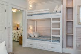 rustic built in bunk beds kids beach style remodeling ideas with light wood wall paneling under bunk bed lighting ideas