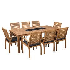 Sunscape Tarkine <b>9 Piece</b> Timber Dining Setting