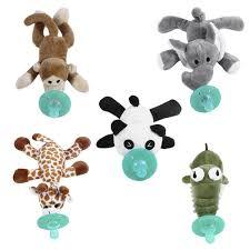 <b>Cute Funny</b> Newborn <b>Baby Silicone</b> Animal <b>Pacifier</b> with Plush Toy ...