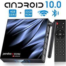 Android TV Box 10.0 4GB RAM 32GB ROM,[<b>2020 Newest</b>] Pendoo ...