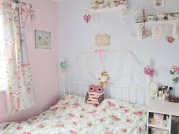 pastel blue and pink vintage style bedroom ideas for girl with metal bed frame blue vintage style bedroom