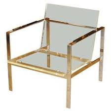 brass lucite chair brass furniture