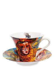 Чашка с блюдцем ''Венецианские маски'' 250 мл (<b>Carmani</b> ...