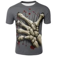 Cool Hip Hop Men tshirt Gothic <b>Grim Reaper Finger</b> Short Sleeve ...