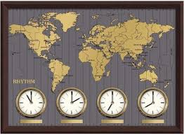 <b>Настенные часы Rhythm CMW902NR06</b> (карта) - купить по ...