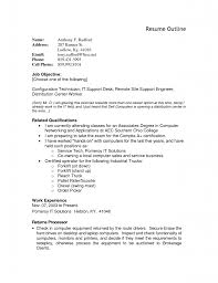 a resume outline outline resume template