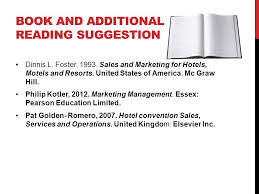 BOOK AND ADDITIONAL READING SUGGESTION Dinnis L  Foster        Sales and Marketing for SlidePlayer