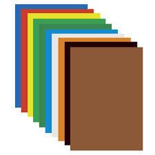 <b>Картон цветной А4</b> мелованный, 10 листов 10 цветов, в пакете ...