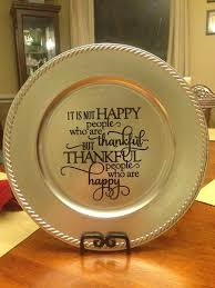 charger plates decorative: thankful vinyl decorated charger plate on etsy