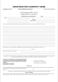 sample contractor proposal template sample contractor proposal