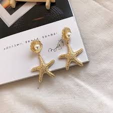 2019 <b>Ruifan Fashion</b> Women Bohemian <b>Style</b> Gold Starfish Conch ...
