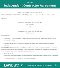 independent contractor agreement contractor contract us related documents consulting agreement similar to an independent contractor