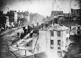 timeline of photography technology   wikipedia first photograph including a person on pavement at lower left by daguerre
