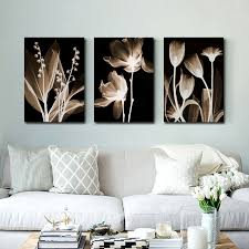 <b>Wall Art Canvas</b> Painting Abstract White Flowers Painting On ...