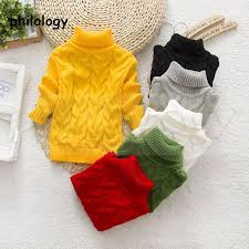 Pullover winter <b>solid</b> baby boy <b>girl</b> kid knitted <b>turtleneck</b> high collar ...