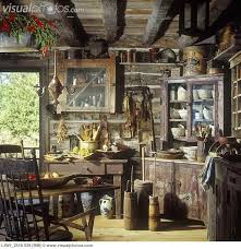 cabinets uk cabis: rustic cabin with old corner cupboard with old pottery and cooking utensils etc log and chink walls distressed cabinetsjust need a few modern