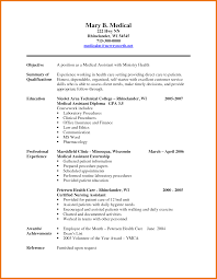medical resume info 7 medical resume examples assistant cover letter