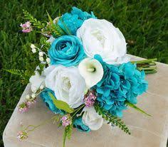Sky Blue wedding bouquet aqua blue bouquet aqua marine