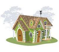 «<b>Детский игровой домик из</b> дерева Rainbow Дизайн 1 Массив ...