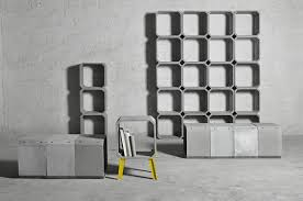 zhi and kou modular cement furniture by bentu design cement furniture