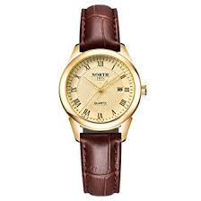 Amazon.com: <b>Womens</b> Leather <b>Watch</b>,Fashion Casual <b>Gold</b> ...