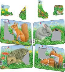 Z12 - <b>Rabbit</b>, <b>Squirrel</b>, Hedgehog, Fox :: Animals :: Puzzles :: Larsen ...