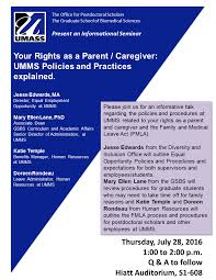 events programs graduate school of biomedical sciences umass your rights as a parent caregiver umms policies and practices explained